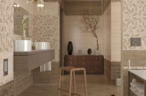 Travertine mosaic (Golden Tile)
